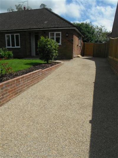 Tarmacadam Driveway with Shingle Finish